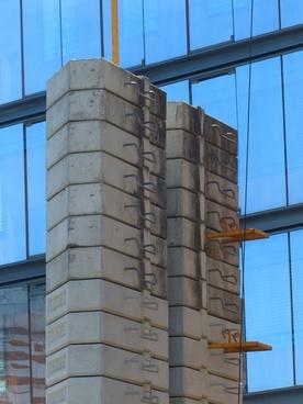 concrete slabs counterweight crane