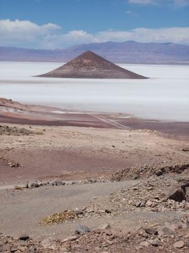 cone salt flat argentina desert