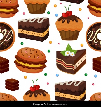 confectionery pattern colorful 3d cakes chocolates decor