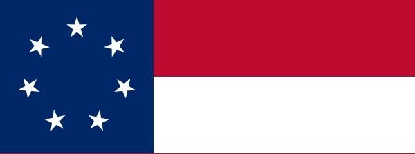 Confederate States Of America Flag clip art