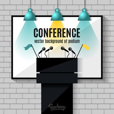 conference stage illustration