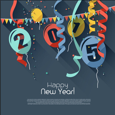 confetti with balloon15 new year background vector