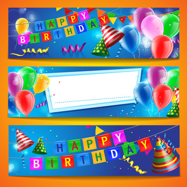 40+ Most Popular Birthday Banner Vector Free Download