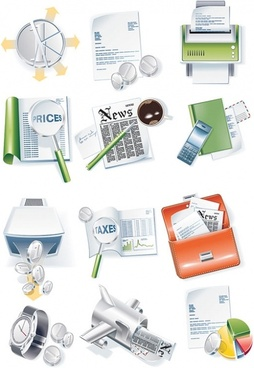 construct a more complex business icon vector