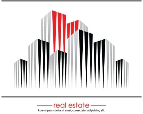 construction and real estate simple pen drawing 05 vector