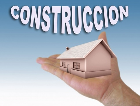construction home with hand