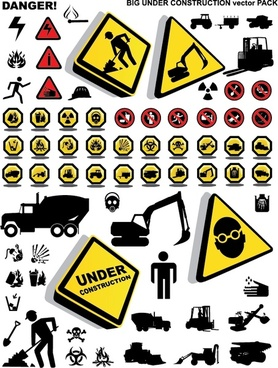 construction safety icon vector