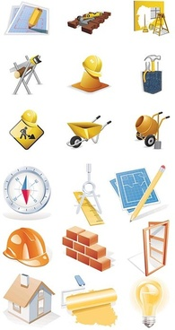 construction site icon vector