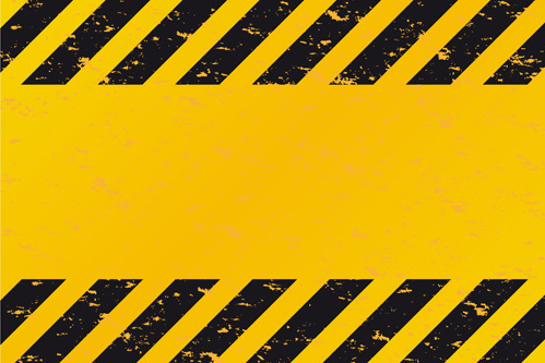 construction warning signs background design vector