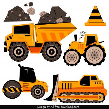 construction work design elements flat classic design