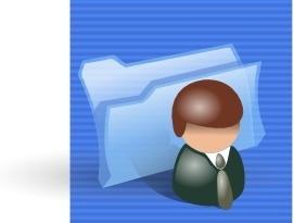 Contacts Folder Icon clip art