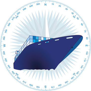 container shipping design vector set