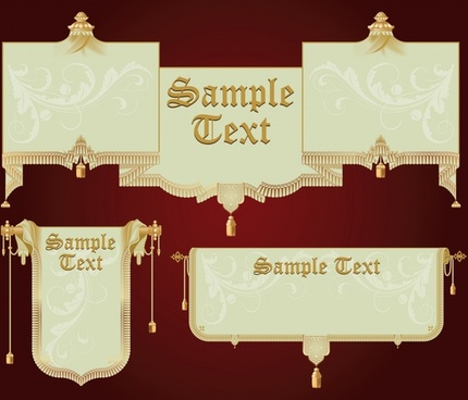 banners templates elegant royal design