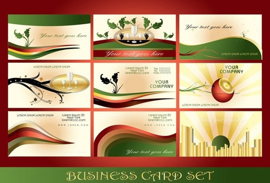 business card templates elegant modern colorful dynamic decor