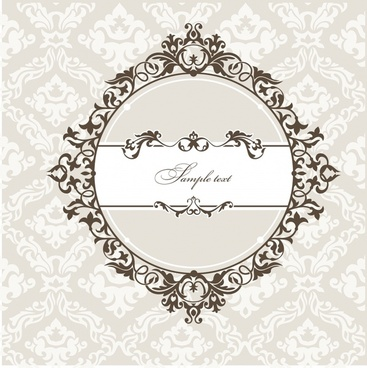 decorative cover template classic elegant european shape