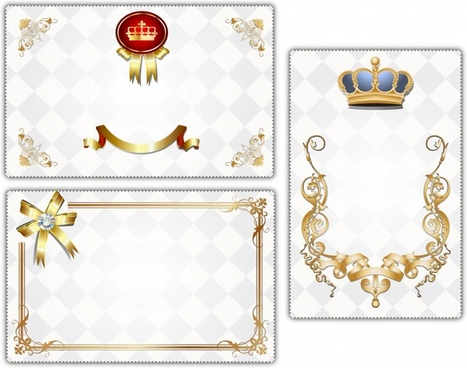certificate templates elegant luxury royal decor