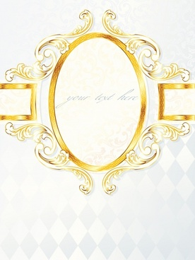 label template luxury symmetric golden sketch