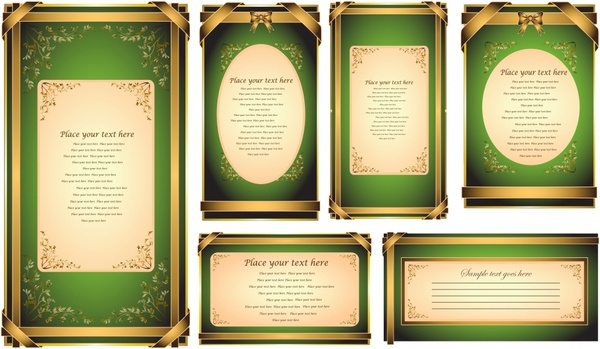 certificate border templates elegant retro golden decor