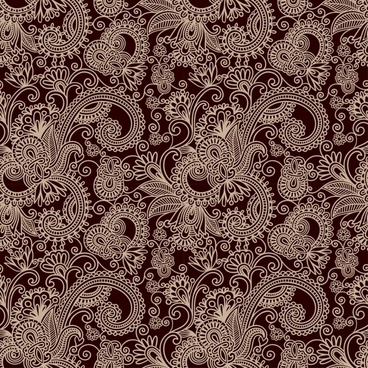 traditional pattern template floral sketch retro messy decor