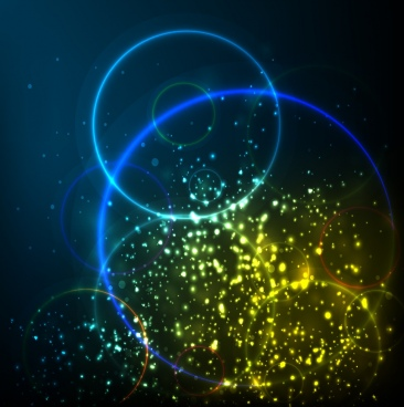 contrast spakling background bright circles design