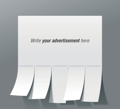 convenient advertising paper template 01 vector