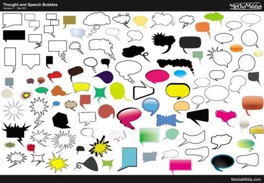 conversation bubbles vector 104 models
