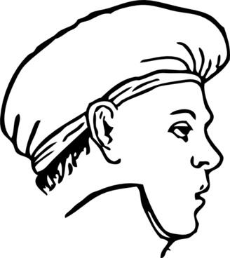 Cook Clothing Sallad Cap clip art