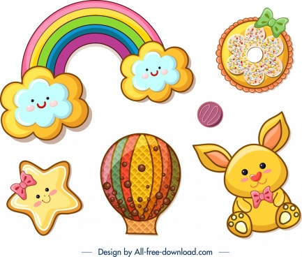 cookies design templates colorful cute decor