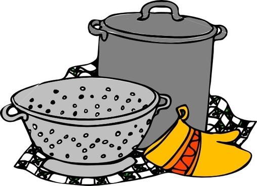 Cooking Pans Glove clip art