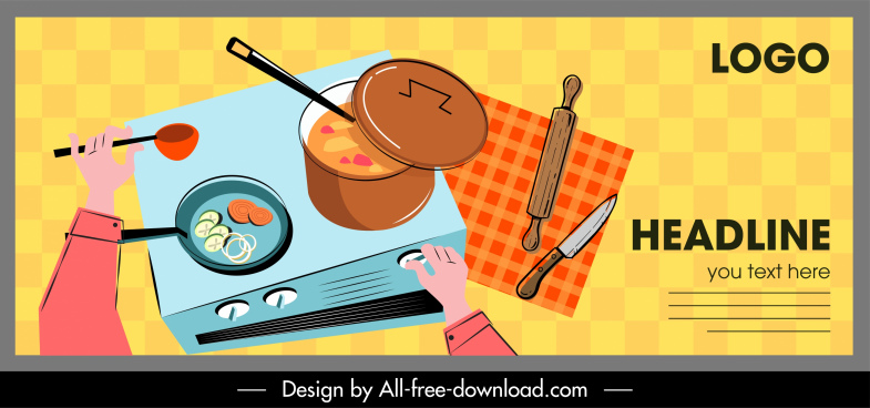 cooking work background kitchen utensils sketch