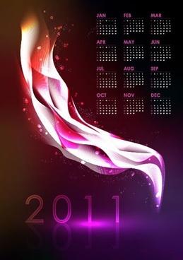 cool 2011 calendar vector