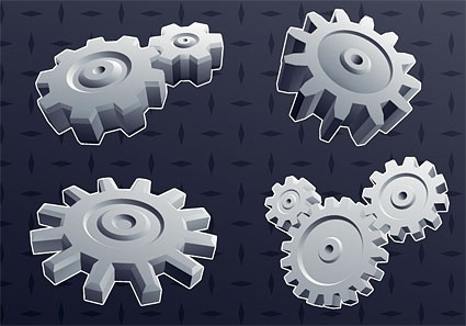 cool 3d gear element vector background