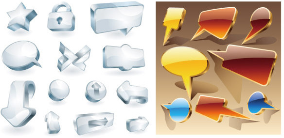 cool 3d icon vector