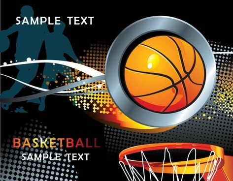 Cool basketball element vector background