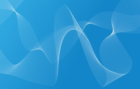 Cool Blue Waves and drops Free Vector