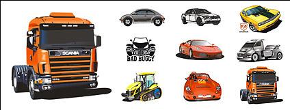 Cool car vector material