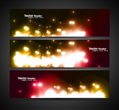 cool colorful banner banner vector