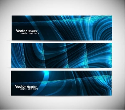 cool colorful banner vector