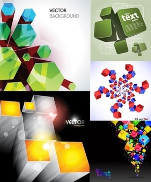 cool cube background modern vector