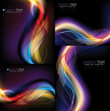 cool dynamic light background vector symphony