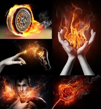 cool flame theme of highdefinition picture