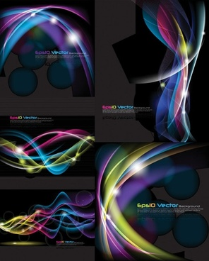cool glare background vector