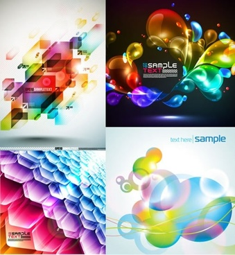 decorative background templates bright colorful modern gorgeous decor