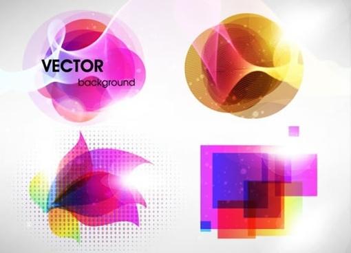 logotype templates modern colorful light effect decor