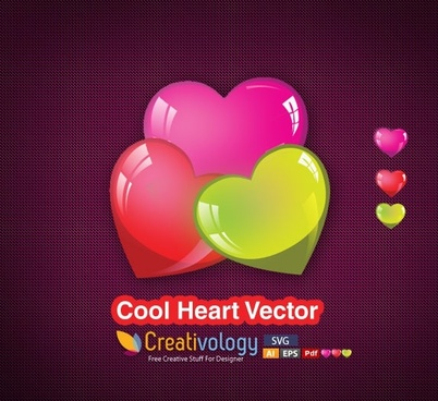 hearts background shiny colorful icons decor