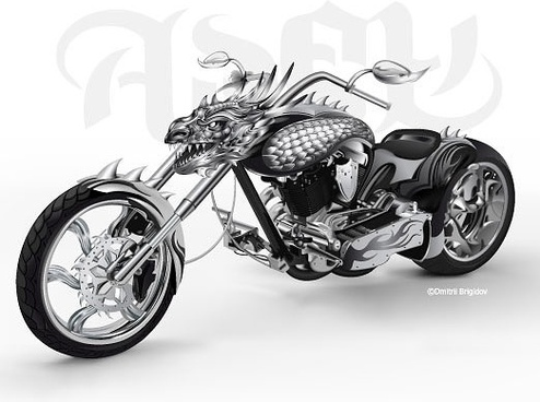 cool motorcycle vector leading