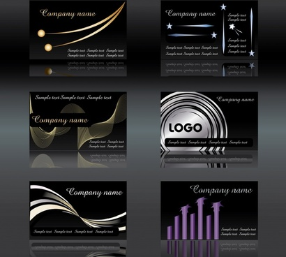 business cards templates elegant dark dynamic decor