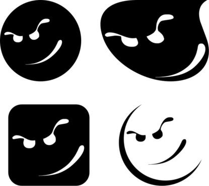 Cool Smiles Cartoon Faces