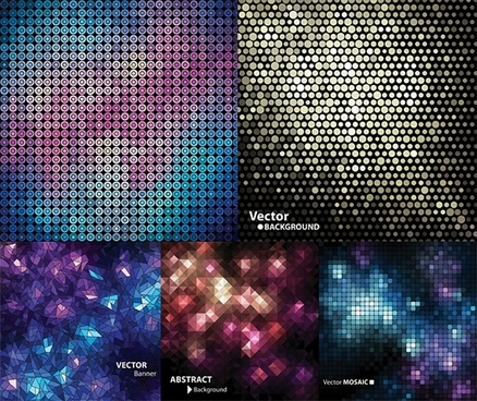 fantasy background templates bokeh polygonal lights decor