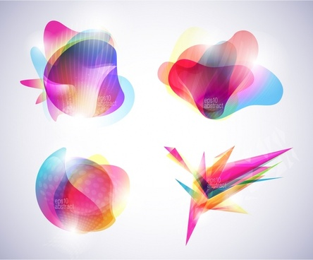 decorative icons templates colorful modern abstract shapes design